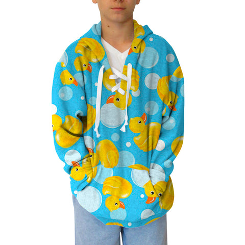Bubble Ducks Adult Hooded Top