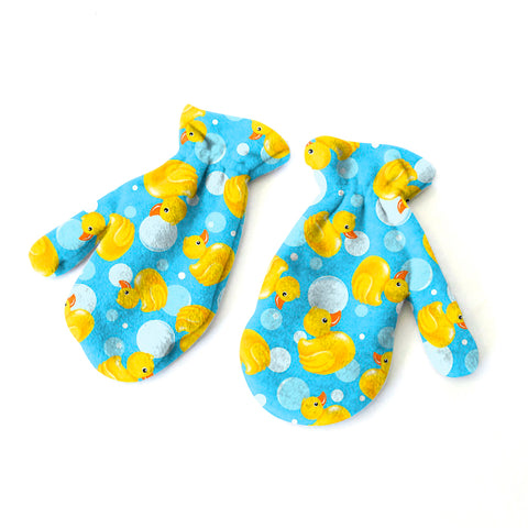 Bubble Ducks Mitten - Double Sided