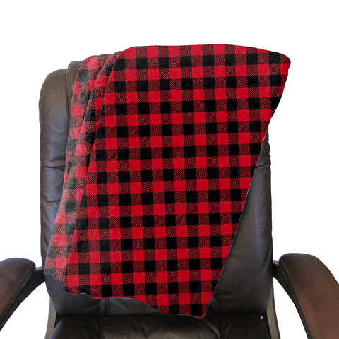 Buffalo Plaid Red and Black Blanket - Single Sided