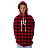 Red and Black Youth Hooded Top