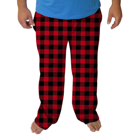 Red and Black Mens Adult Pant