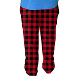 Buffalo Plaid Red and Black Mens Adult Pant