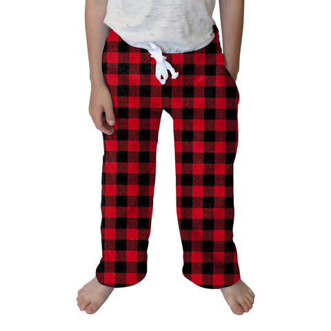 Buffalo Plaid Red and Black Youth Pant