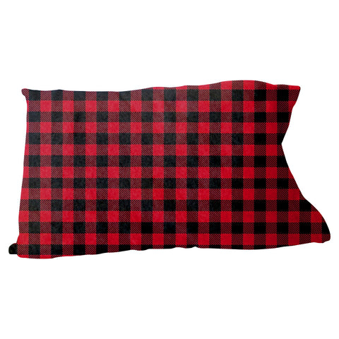 Buffalo Plaid Red and Black Pillow Case