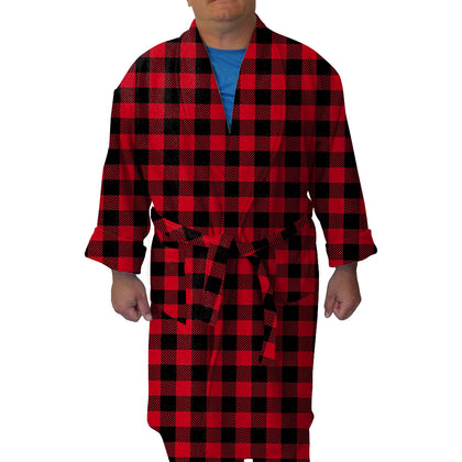 Buffalo Plaid Red and Black Youth and Adult Robe