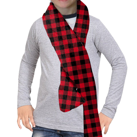 Buffalo Plaid Red and Black Scarf