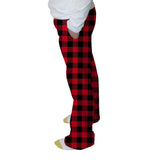 Buffalo Plaid Red and Black Womens Adult Pant