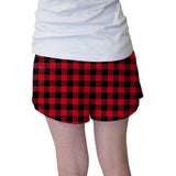 Buffalo Plaid Red and Black Womens Short Short