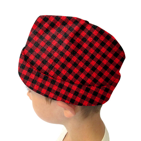 Buffalo Plaid Red and Black Youth and Adult Hat