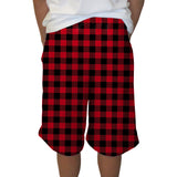 Buffalo Plaid Red and Black Youth Knee Length Short