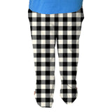 Buffalo Plaid White and Black Mens Adult Pant