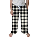 Buffalo Plaid White and Black Toddler Pant