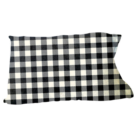 Buffalo Plaid White and Black Pillow Case