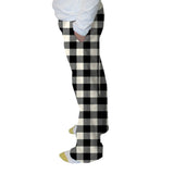 Buffalo Plaid White and Black Womens Adult Pant