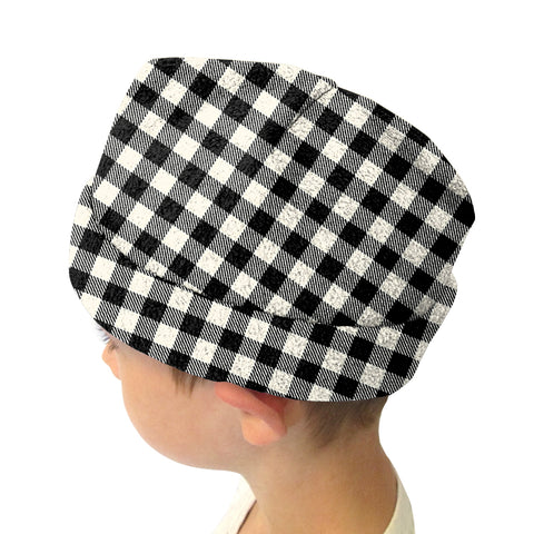 Buffalo Plaid White and Black Youth and Adult Hat
