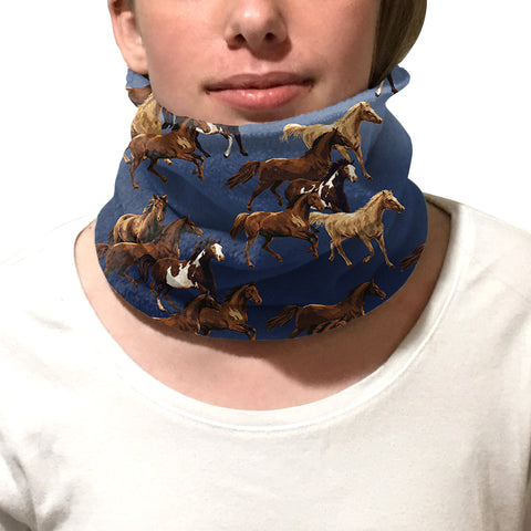 Wild Horses Youth and Adult Neck Warmer