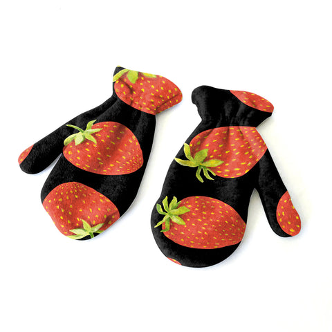 Strawberry Fun Mitten - Double Sided