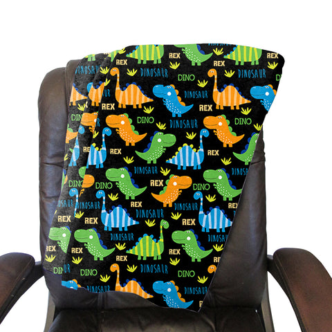 Dinosaur Fun Blanket - Single Sided