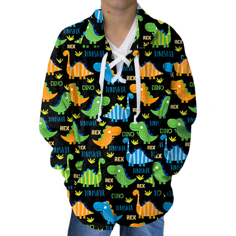 Dinosaur Fun Adult Collared Top