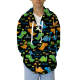 Dinosaur Fun Adult Hooded Top