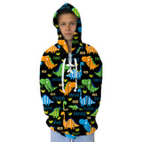 Dinosaur Fun Youth Hooded Top