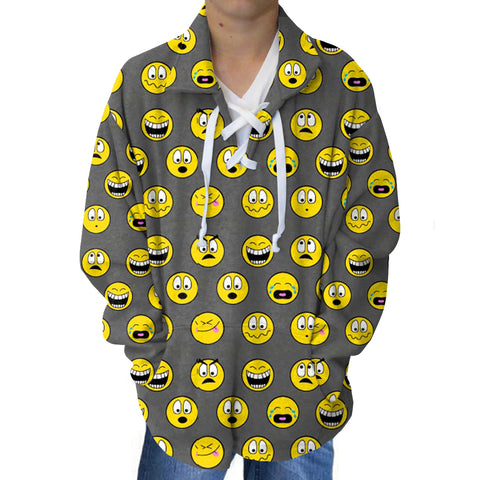 Emoji Emoji Adult Collared Top