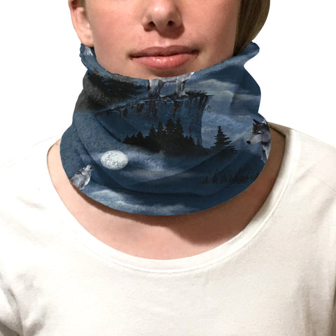 Howling Wolves Youth and Adult Neck Warmer
