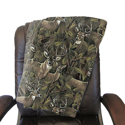 Forest Deer Blanket - Double Sided