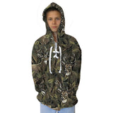 Forest Deer Adult Hooded Top