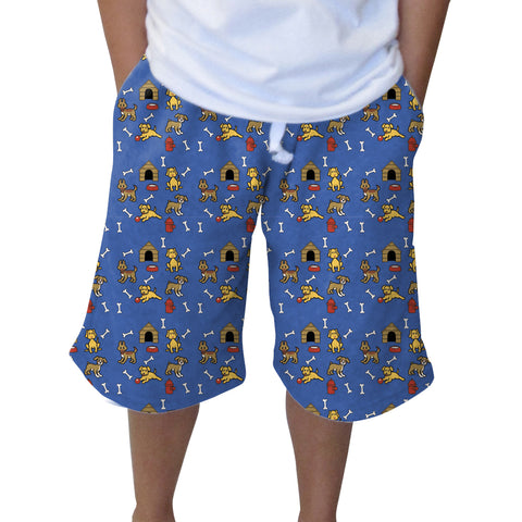 Friendly Pups Youth Knee Length Short