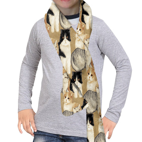 CAT COLLAGE SCARF - DOUBLE SIDED