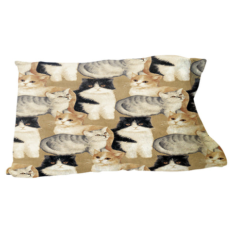 Cat Collage Pillow Case