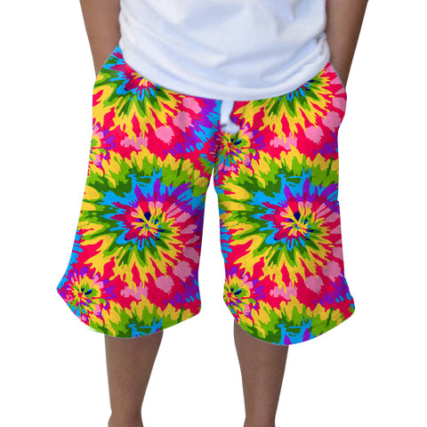 Groovy Tye Dye Adult Knee Length Short