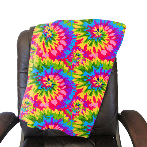 Groovy Tye Dye Blanket - Double Sided