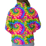 Groovy Tye Dye Adult Collared Top