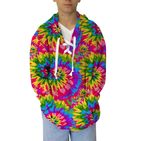 Groovy Tye Dye Adult Hooded Top