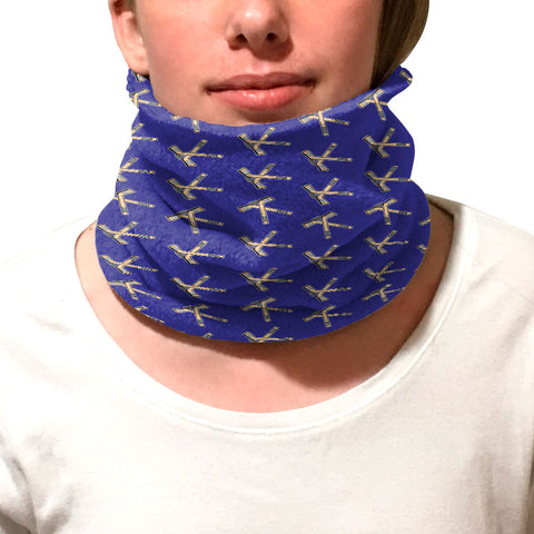 Hat Trick Hockey Blue Youth and Adult Neck Warmer