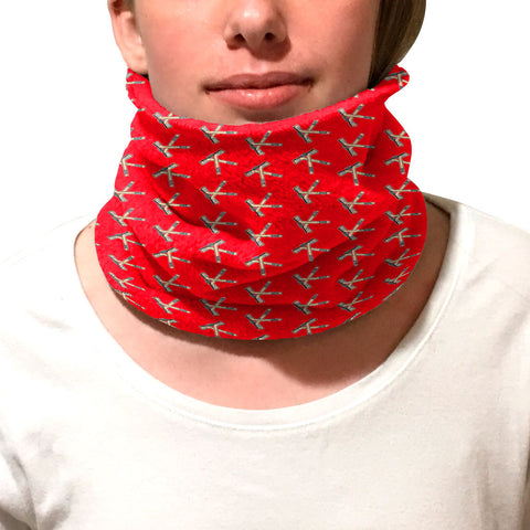 Hat Trick Hockey Red Youth and Adult Neck Warmer