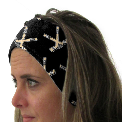Hat Trick Hockey Black Youth and Adult Head Band