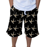 Hat Trick Hockey Black Youth Knee Length Short