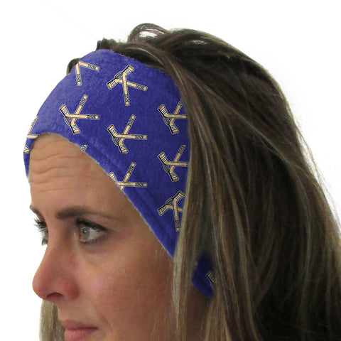 Hat Trick Hockey Blue Youth and Adult Head Band