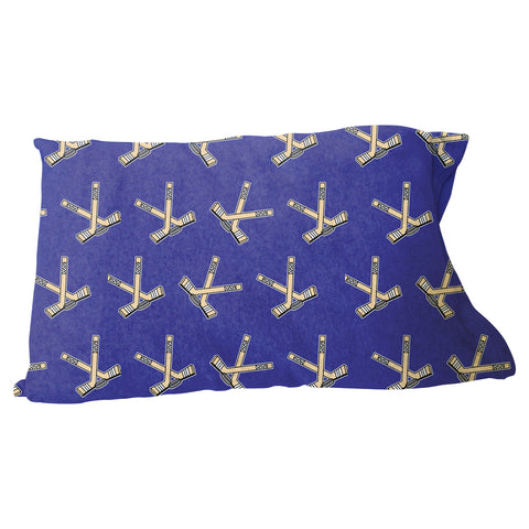 Hat Trick Hockey Blue Pillow Case