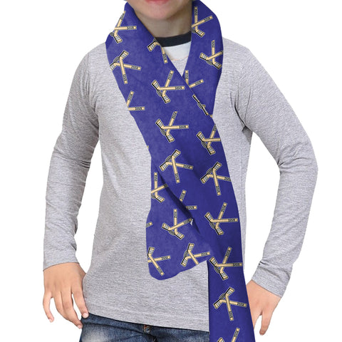 Hat Trick Hockey Blue Scarf