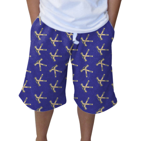 Hat Trick Hockey Blue Youth Knee Length Short