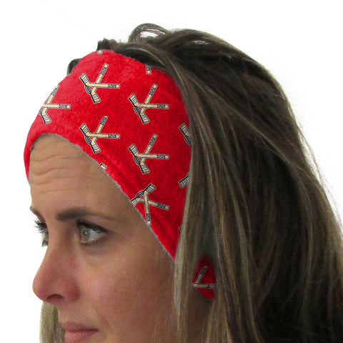 Hat Trick Hockey Red Youth and Adult Head Band