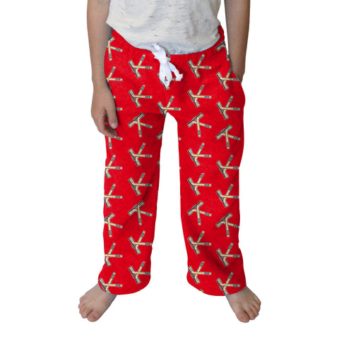 Hat Trick Hockey Red Youth Pant