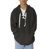 Heather Grey Solid Adult Hooded Top