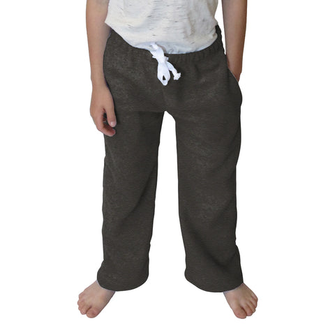 Heather Grey Solid Toddler Pant