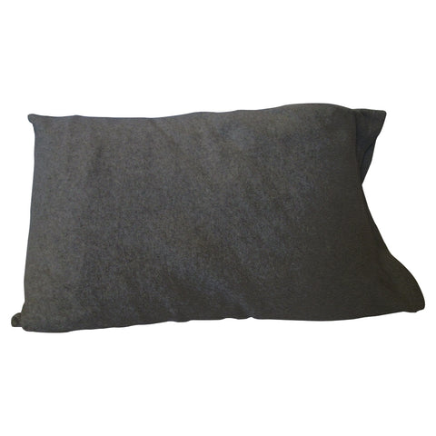 Heather Grey Solid Pillow Case