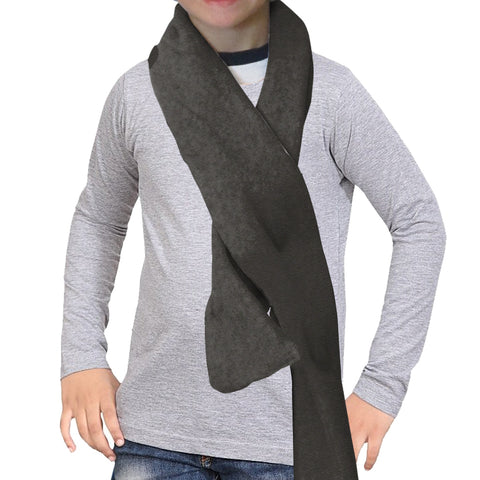 Heather Grey Solid Scarf - Double Sided